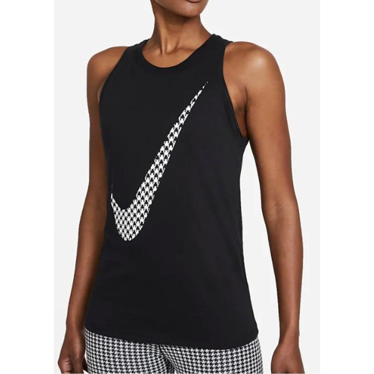 Regata Feminina Nike Dj1742-010 Dri-fit Icon Preto/branco