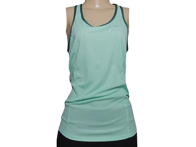 Regata Feminina Nike 520274-308 Racer Tank Verde Claro/musgo