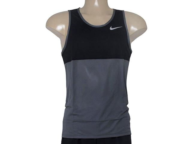 Regata Masculina Nike 642844-021 Racer Singlet Chumbo/preto