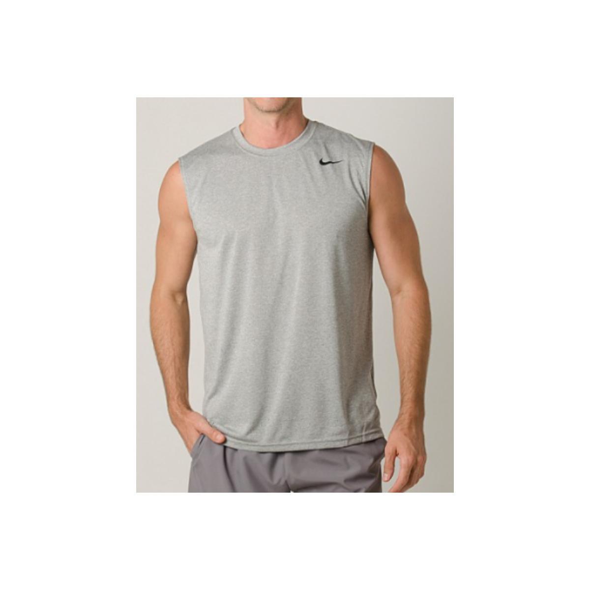 Regata Masculina Nike 718835-063 Dry Trainning Top Cinza