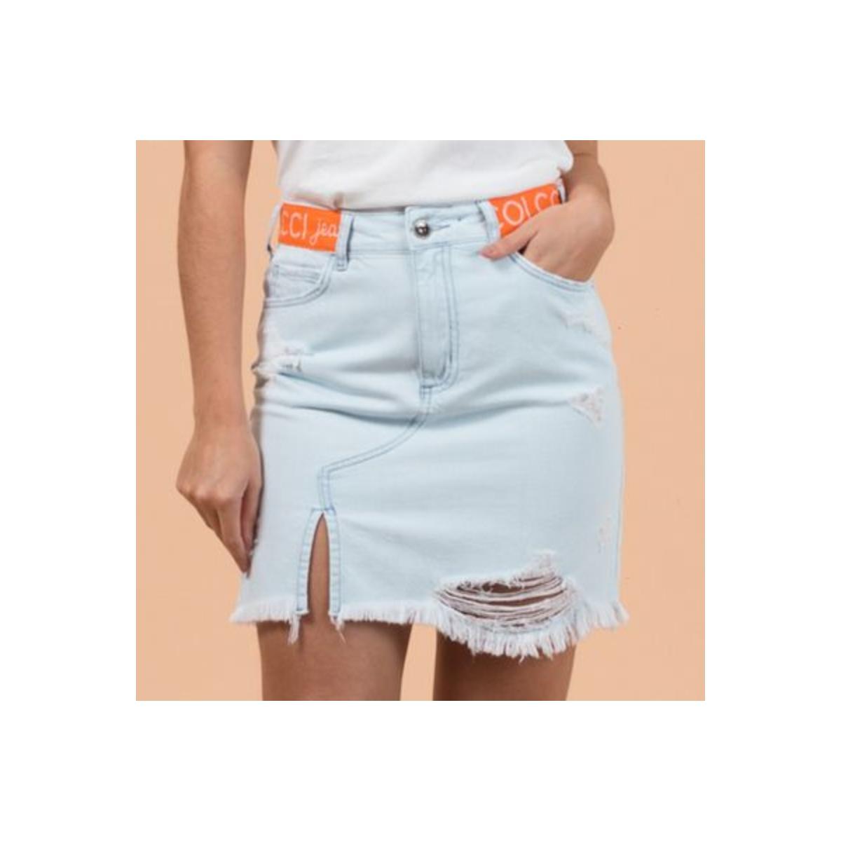 Saia Feminina Colcci 80103429 600 Jeans