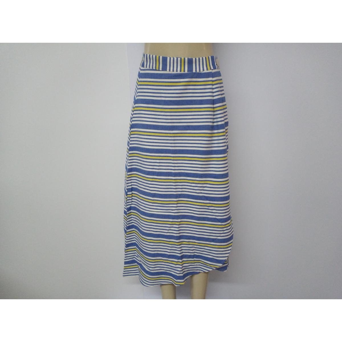 Saia Feminina Colcci 80103432 Vc549 Azul/amarelo Estampado