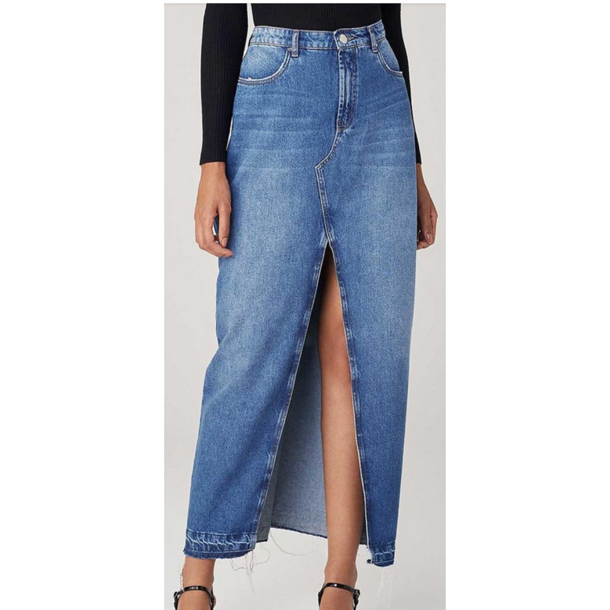 Saia Feminina Dzarm Zb3z 1asn Jeans