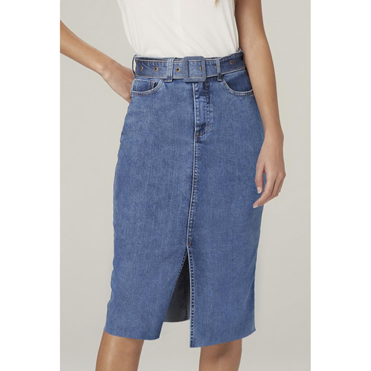 Saia Feminina Dzarm Zc3f 1asn Jeans