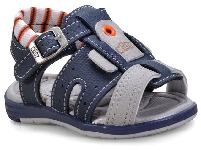 Sandália Masc Infantil Kidy 00108128907 Marinho/cinza/laranja