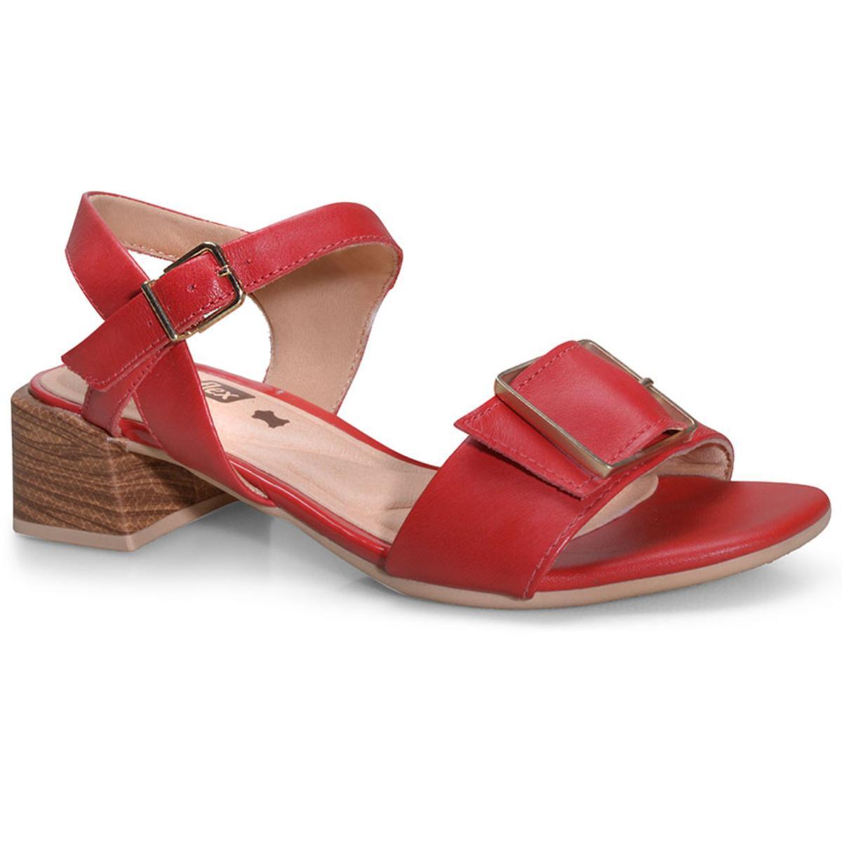 Sandália Feminina Comfortflex 20-67403 Vermelho