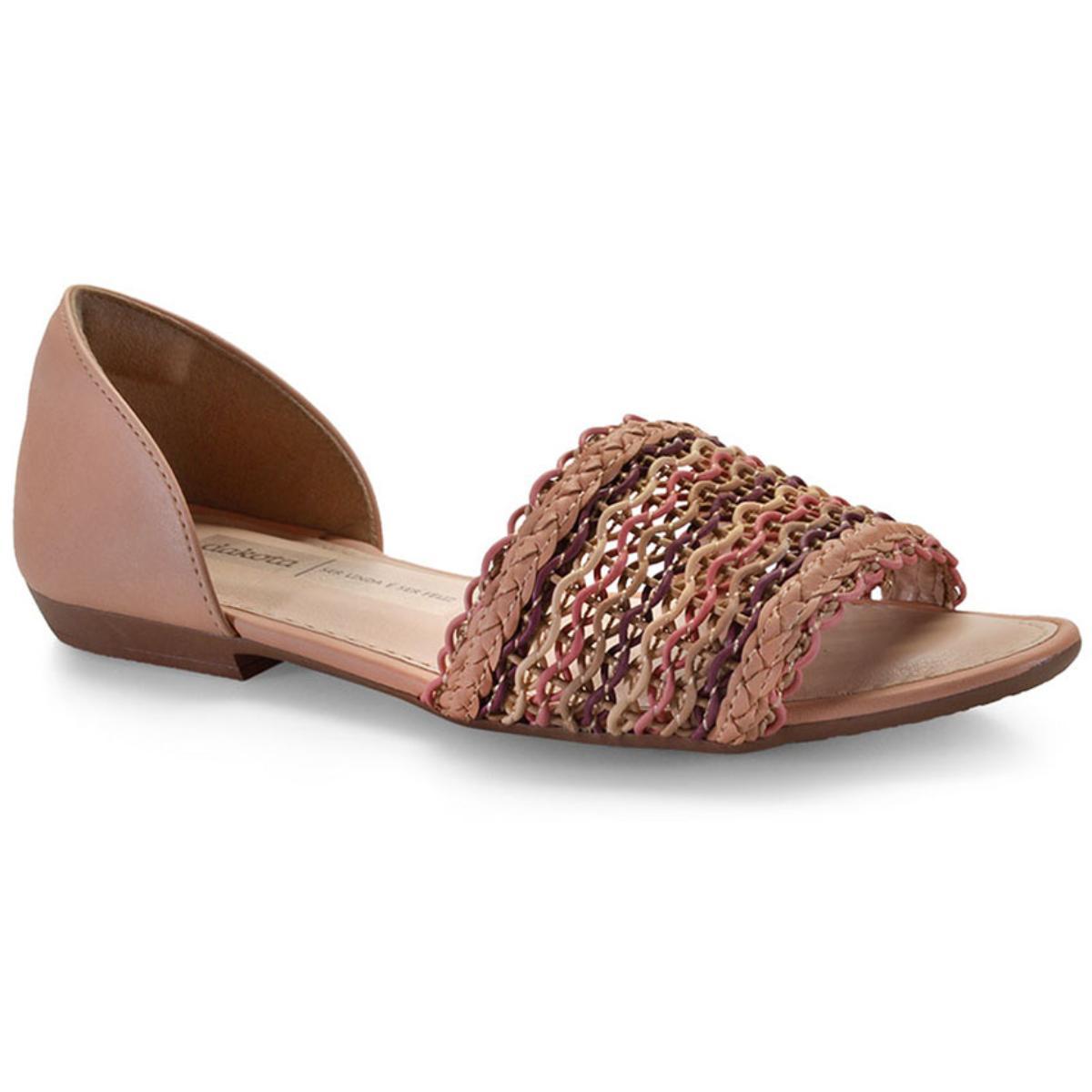 Sandália Feminina Dakota Z5474 Peach