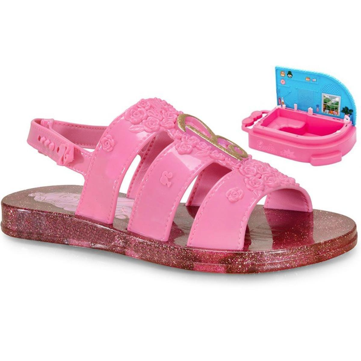 Sandália Fem Infantil Grendene 22485 20197 Barbie Spa Rosa