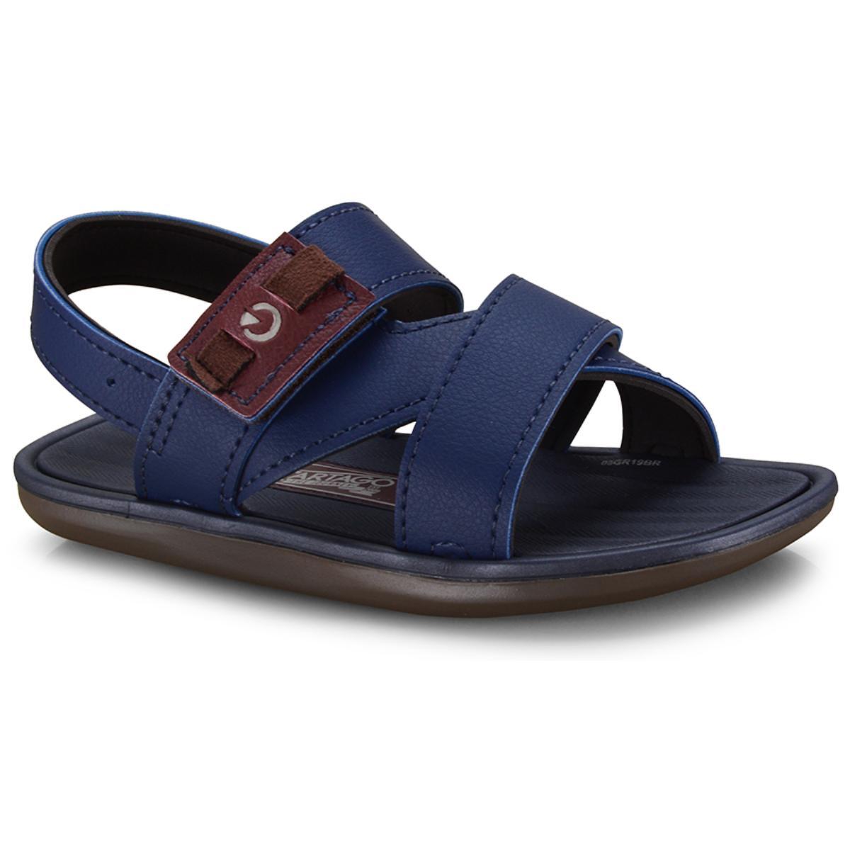 Sandália Masc Infantil Grendene 11531 21181 Cartago Mali xi Sand Marrom/azul