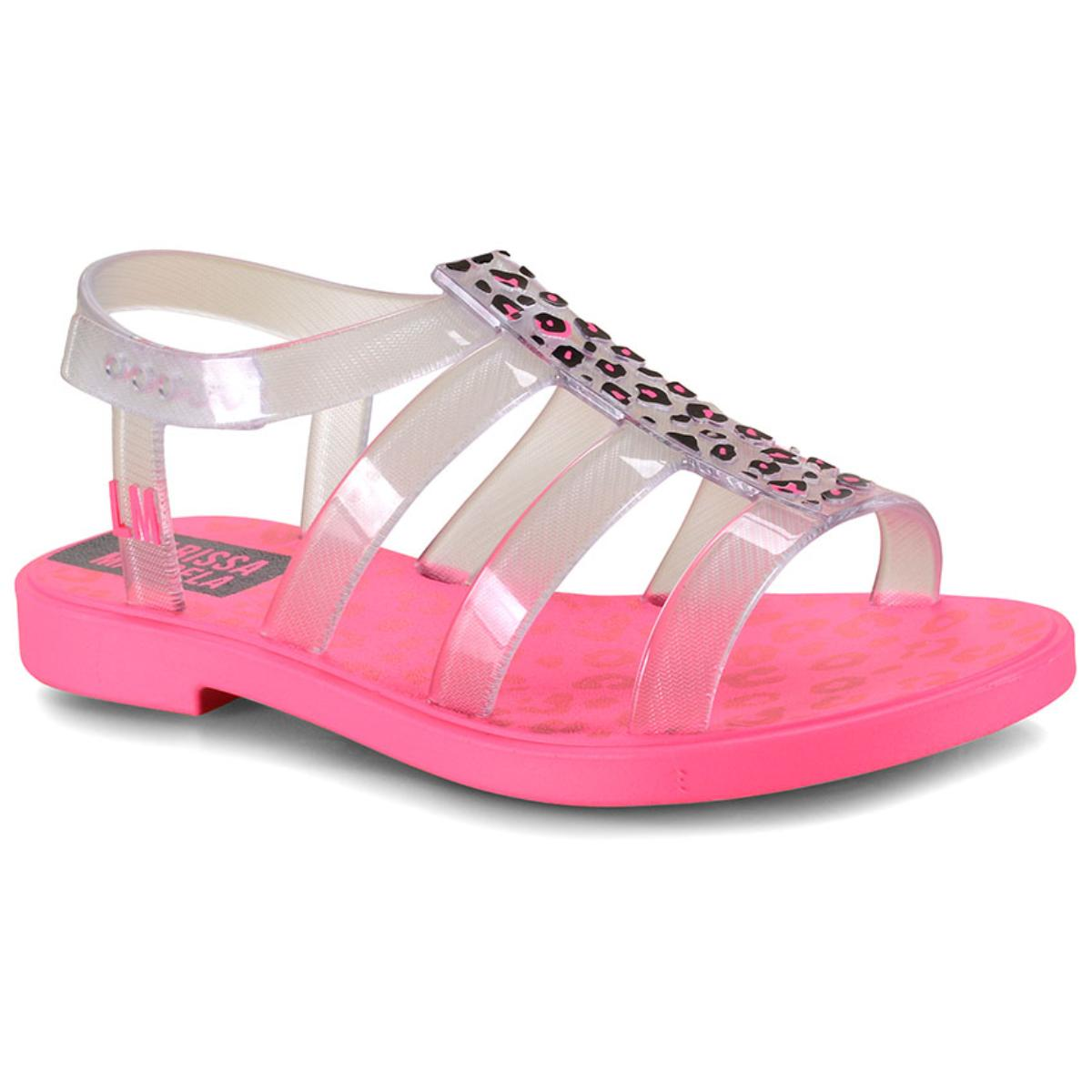 Sandália Fem Infantil Grendene 22021 25078 Larissa Manoela Trend Bag Rosa Neon/vidro