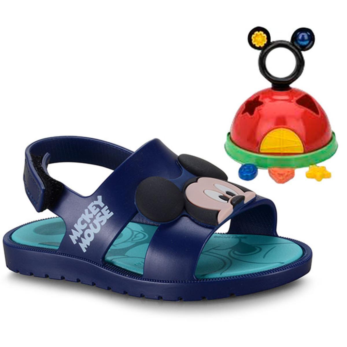 Sandália Masc Infantil Grendene 21996 24808 Mickey e Minnie Azul