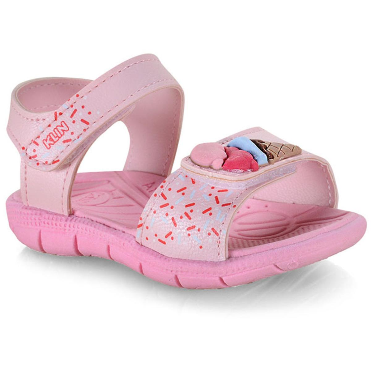 Sandália Fem Infantil Klin 711.108 Rosa Claro