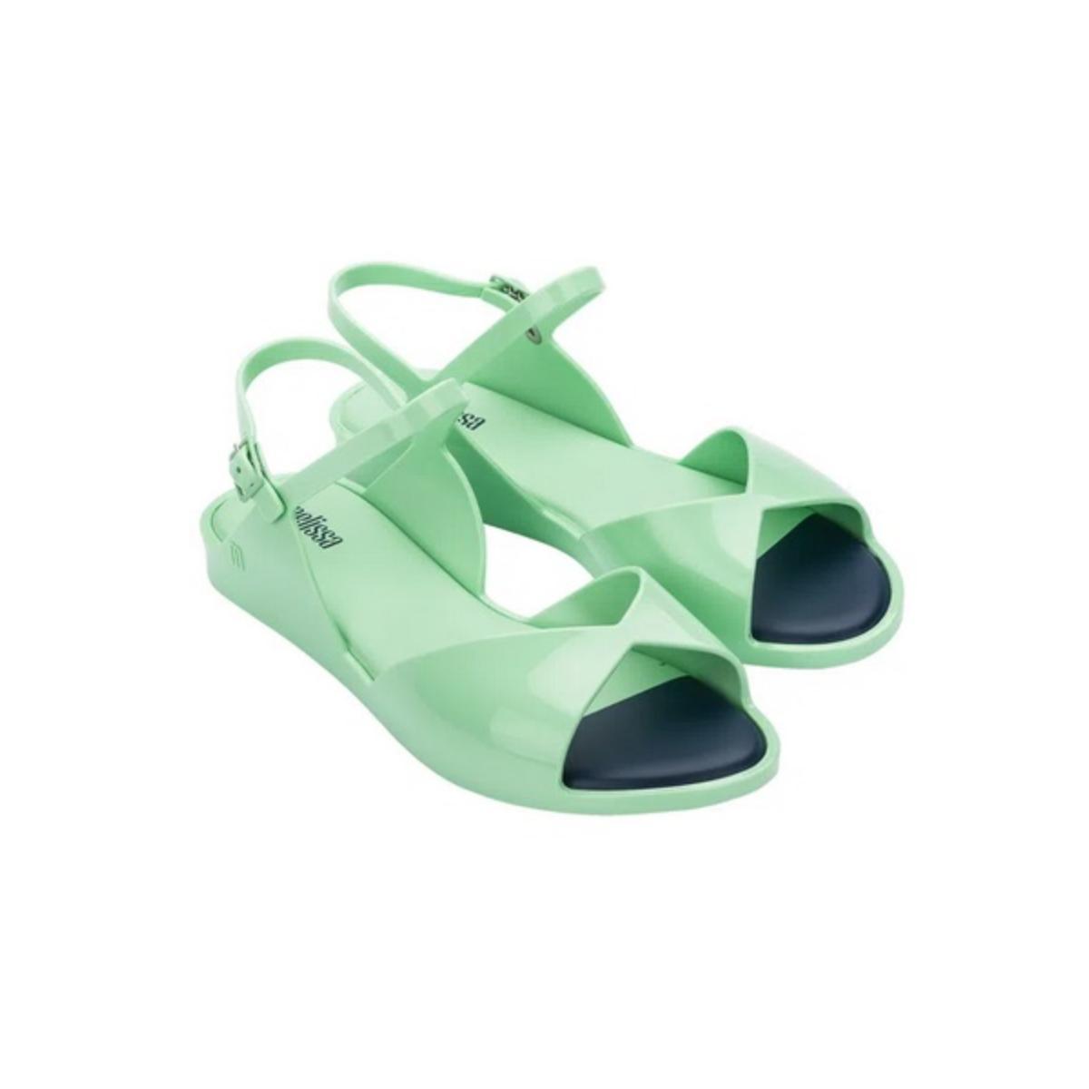 Sandália Feminina Melissa 32917 16408 Silky Verde Agua
