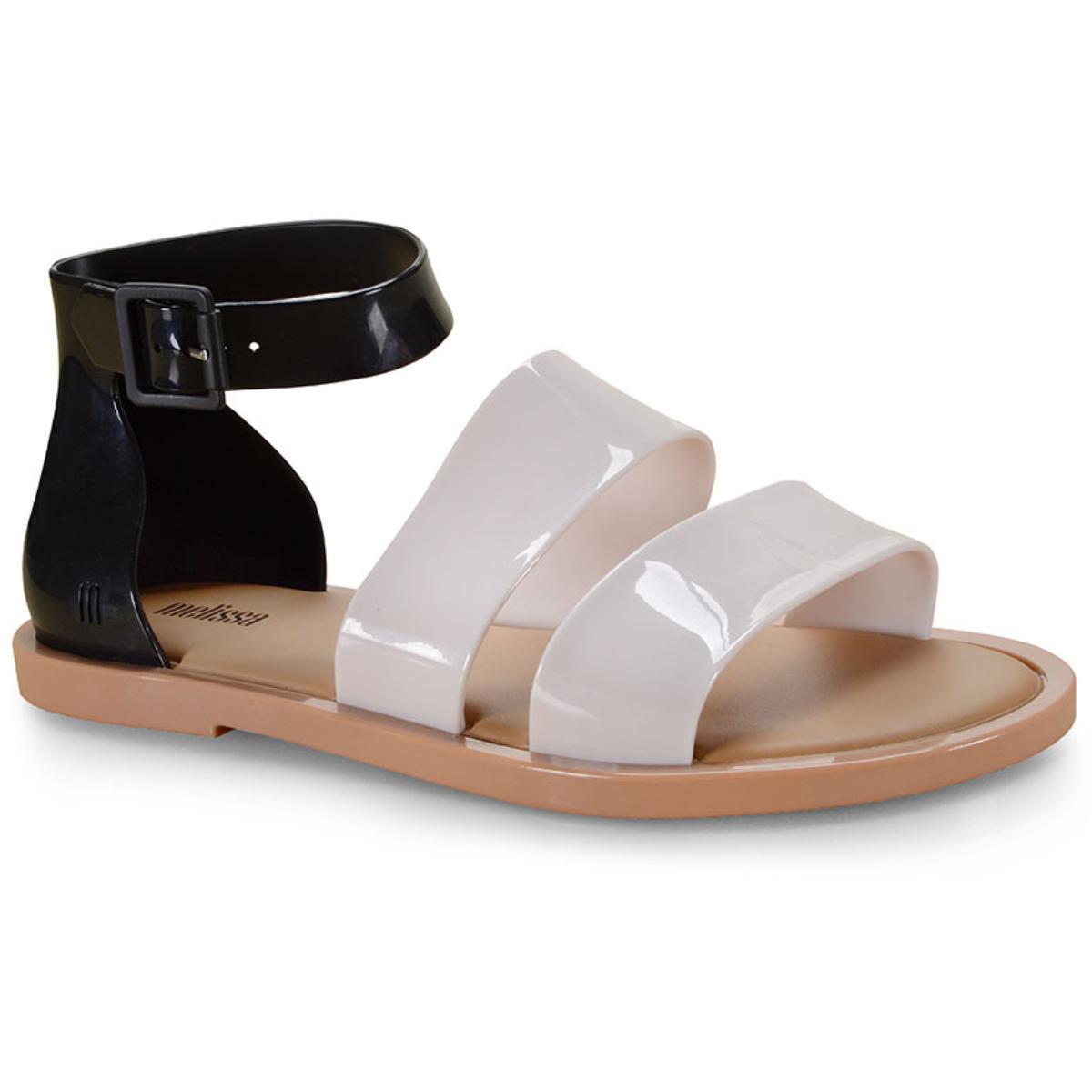 Sandália Feminina Melissa 32797 53670 Model Sandal Bege/preto