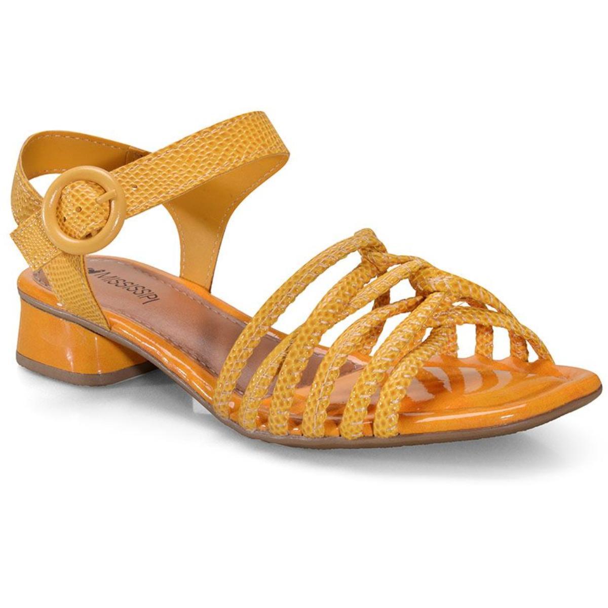 Sandália Feminina Mississipi Q3752 Amarelo