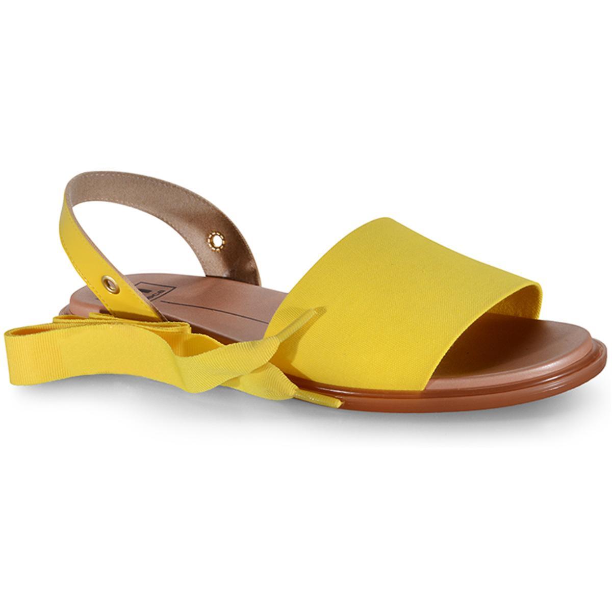 Sandália Feminina Moleca 5450101 Amarelo