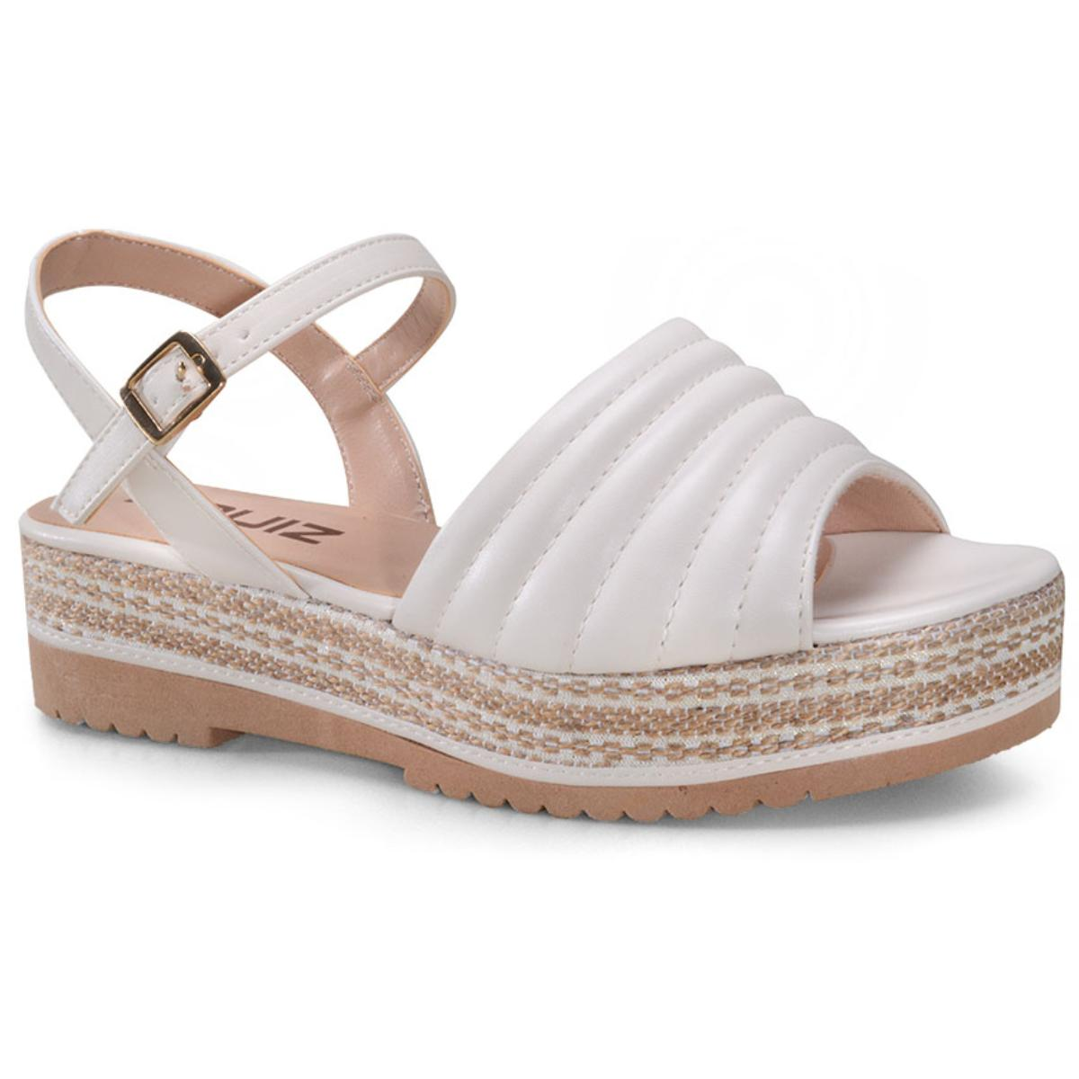 Sandália Feminina Quiz 66-1911-15  Off White