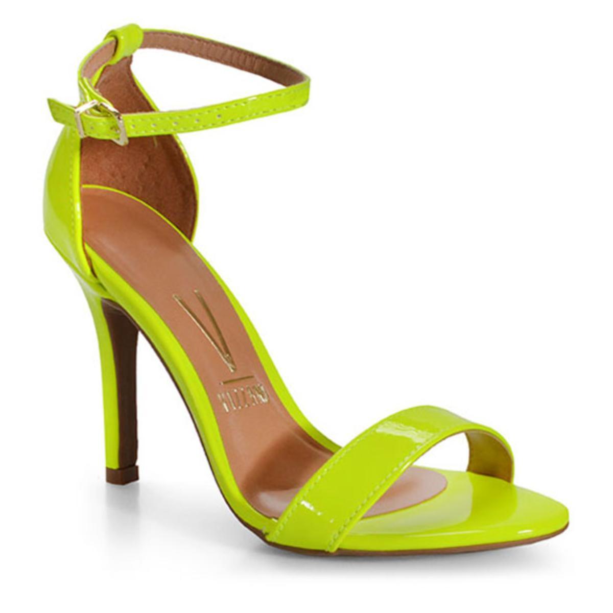 Sandália Feminina Vizzano 6249152 Amarelo Fluor