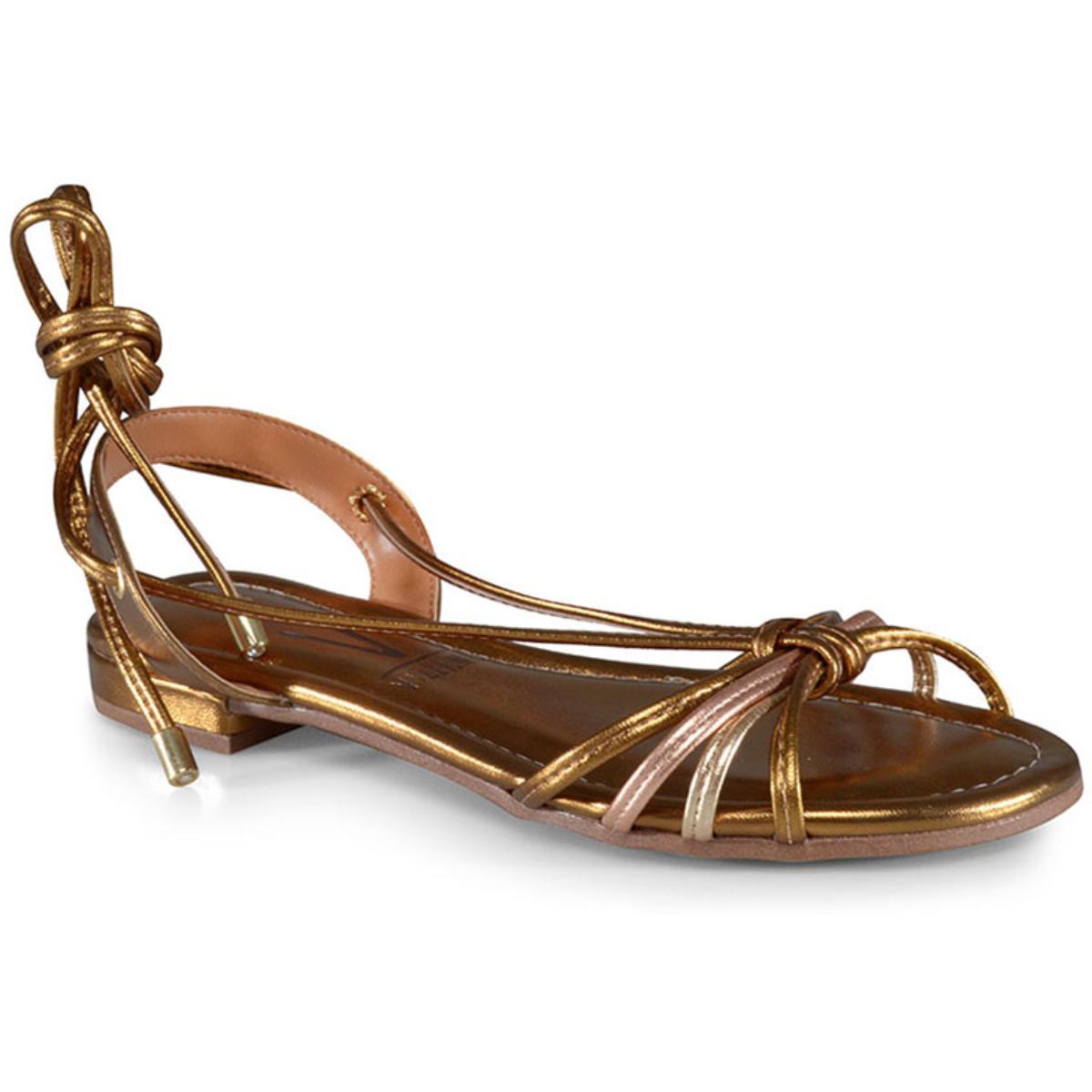 Sandália Feminina Vizzano 6370519 Bronze/ouro Rosado/dourado