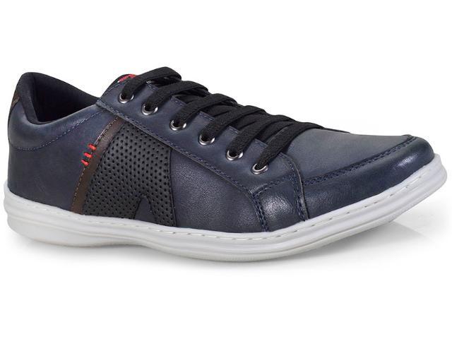Sapatênis Masculino Ped Shoes 14003-c Azul/café