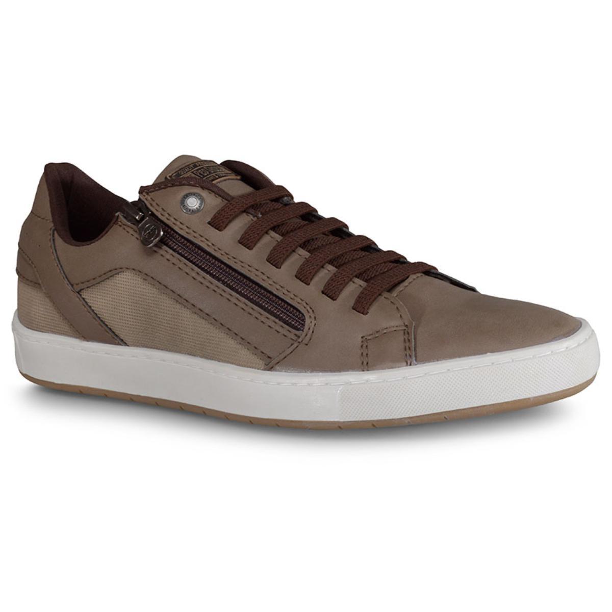 Sapatênis Masculino Ped Shoes 14041-e Rato Kit Cinto+meia