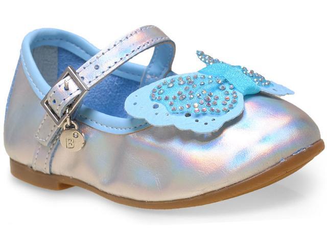 Sapatilha Fem Infantil Bibi 874052 Prata/azul
