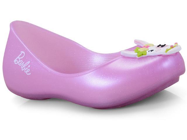 Sapatilha Fem Infantil Grendene 22121 50970 Barbie Special Trend Sap Rosa Perolado