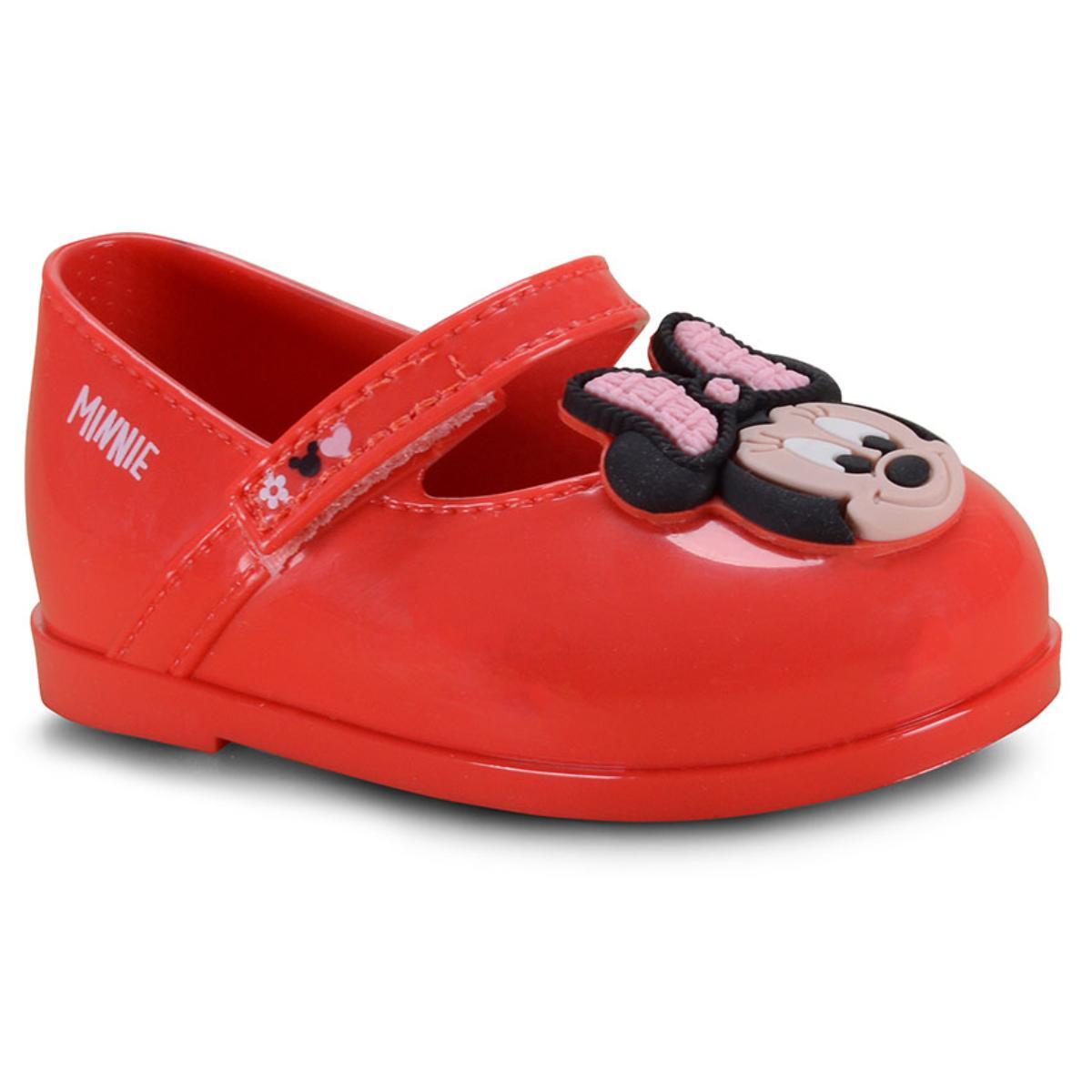 Sapatilha Fem Infantil Grendene 22013 50962 Disney Minnie Petit Vermelho/rosa