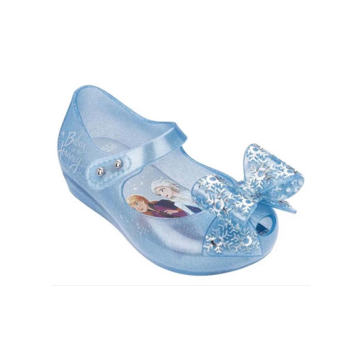Sapatilha Fem Infantil Melissa 32851 53645 Ultragirl+frozen Azul Perolado