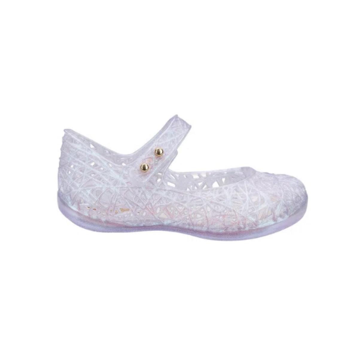 Sapatilha Fem Infantil Melissa 31510 03832 Mini Campana Branco Vidro