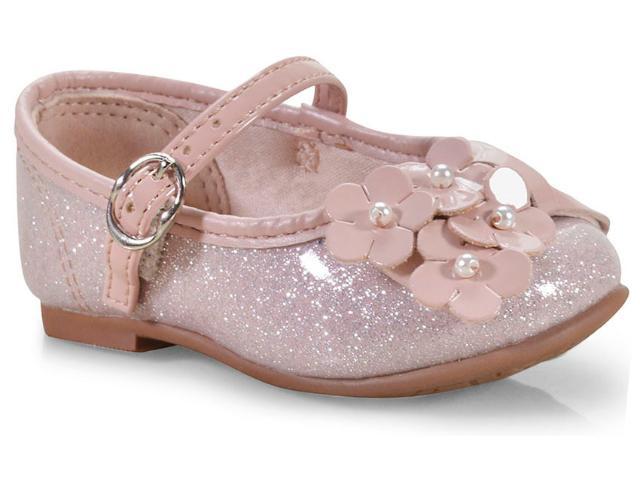 Sapatilha Fem Infantil Molekinha 2106182 Rosa/prata