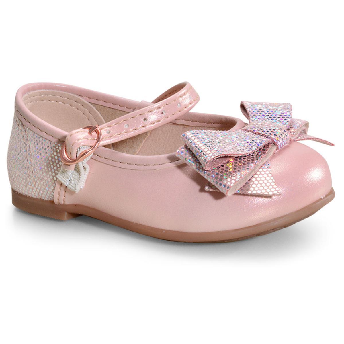 Sapatilha Fem Infantil Molekinha 2106176 Perola/rosa