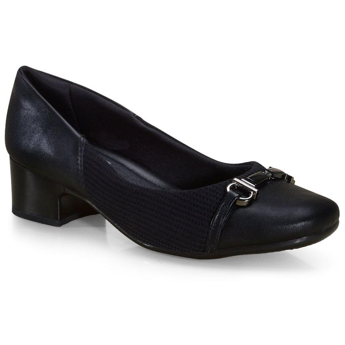 Sapato Feminino Comfortflex 21-86303 Preto