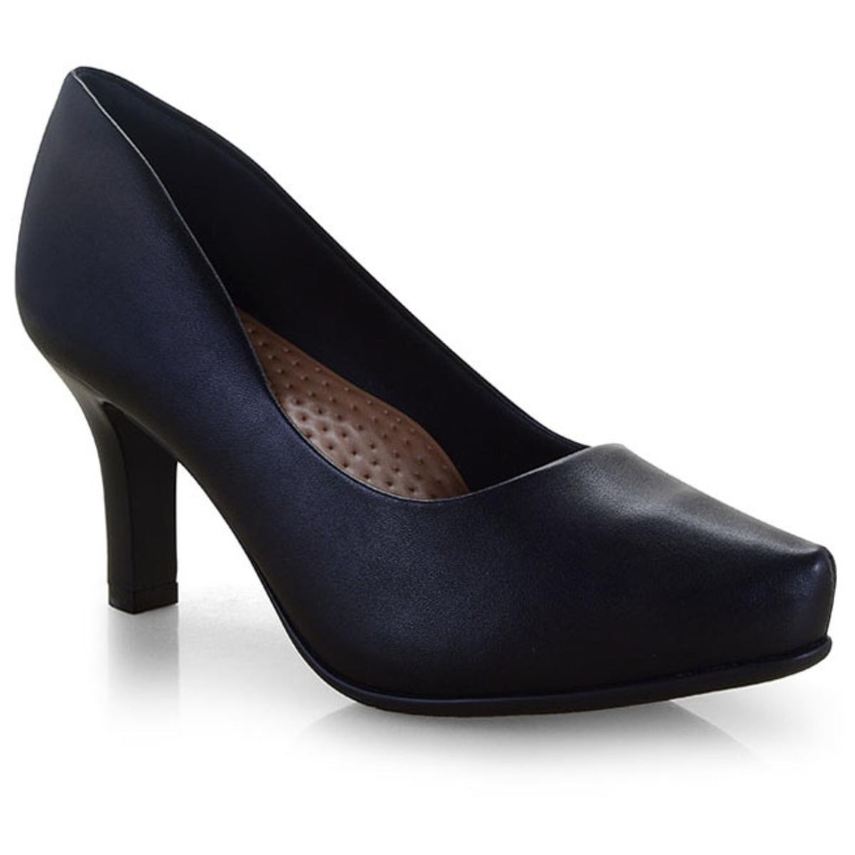 Sapato Feminino Comfortflex 19-85301 Preto