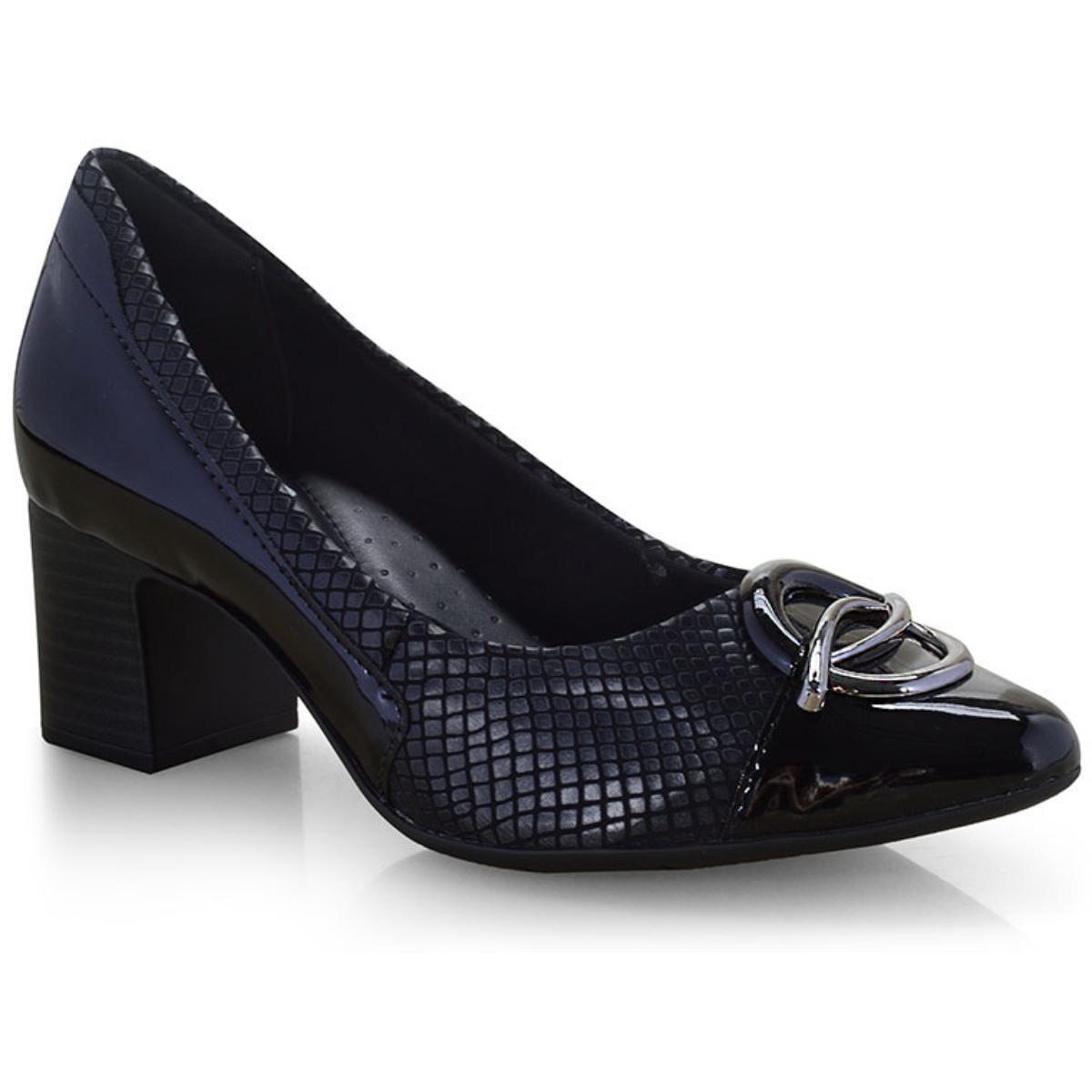 Sapato Feminino Comfortflex 19-54305 Preto