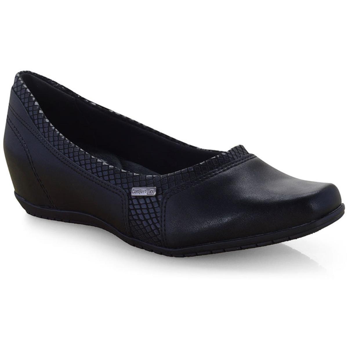 Sapato Feminino Comfortflex 19-94302 Preto
