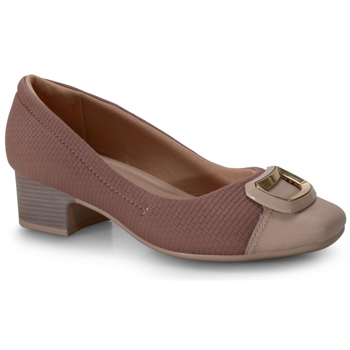 Sapato Feminino Comfortflex 20-86303 Nude/malva