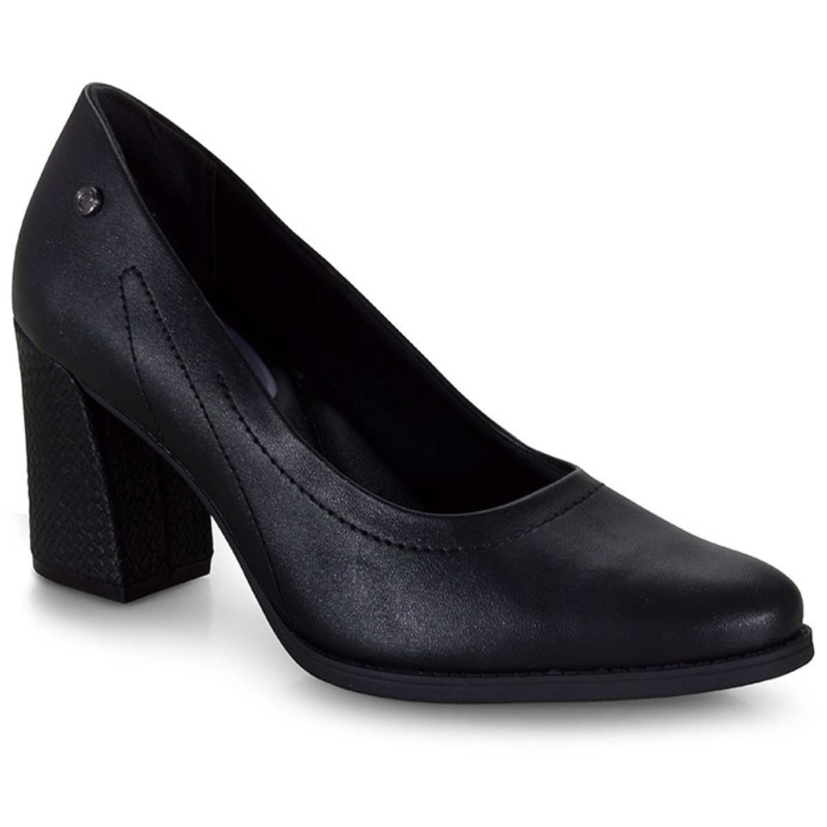 Sapato Feminino Comfortflex 20-78301 Preto