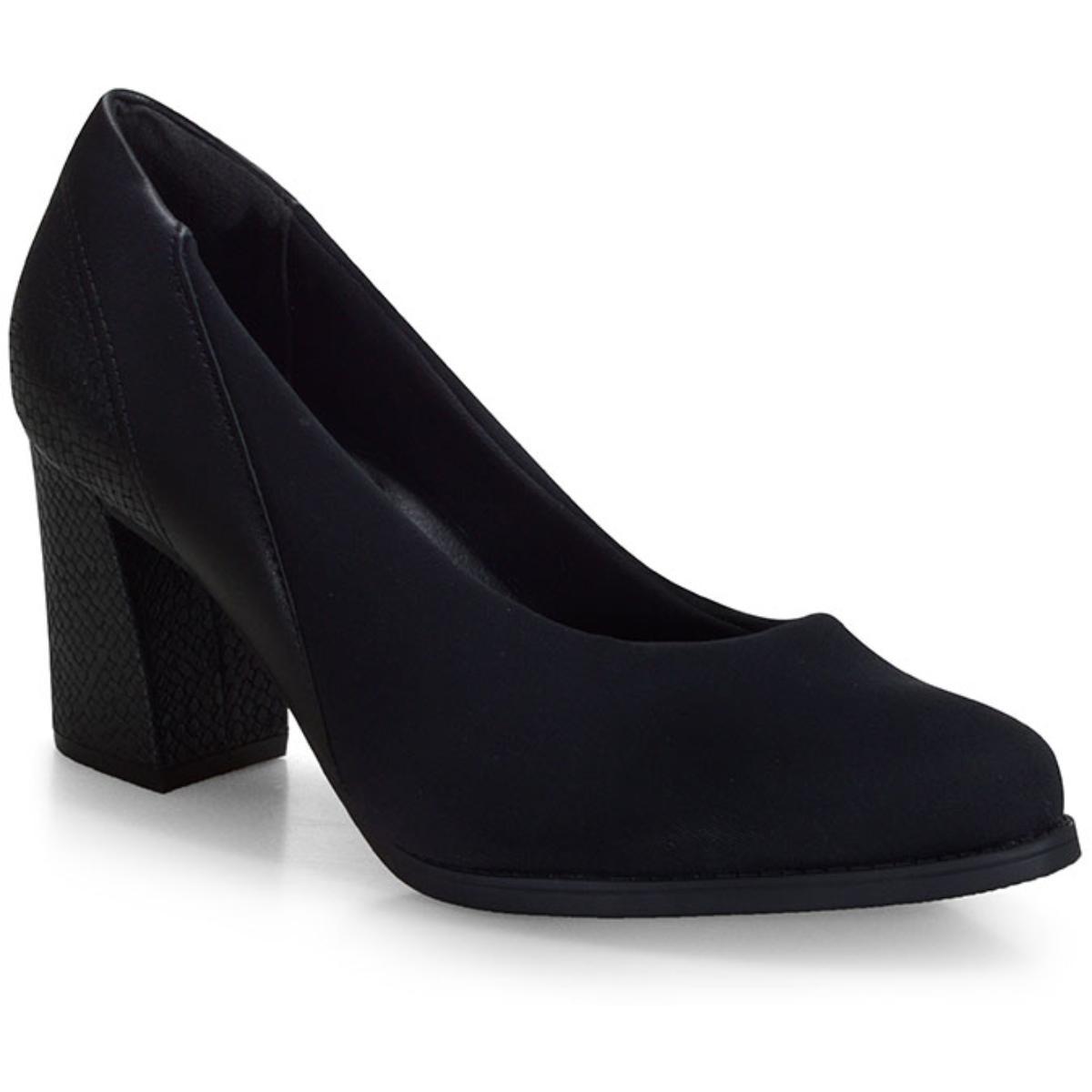 Sapato Feminino Comfortflex 20-78302 Preto