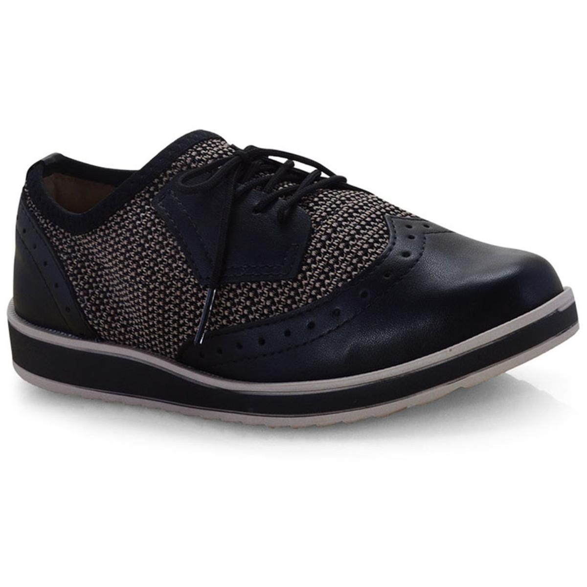 Sapato Feminino Dakota G1141 Preto/bege