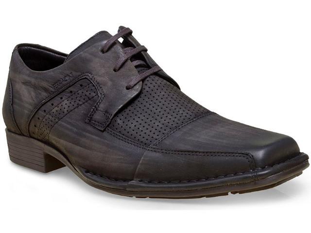 Sapato Masculino Ferracini 4227-1327i Petróleo Estonado