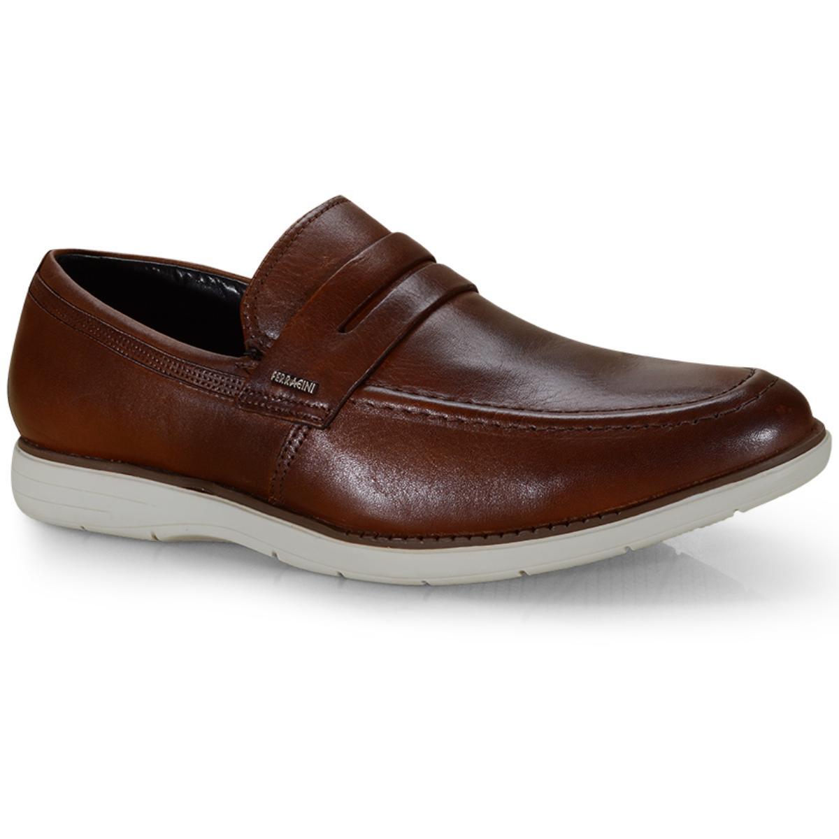 Sapato Masculino Ferracini 6128-559l Havana