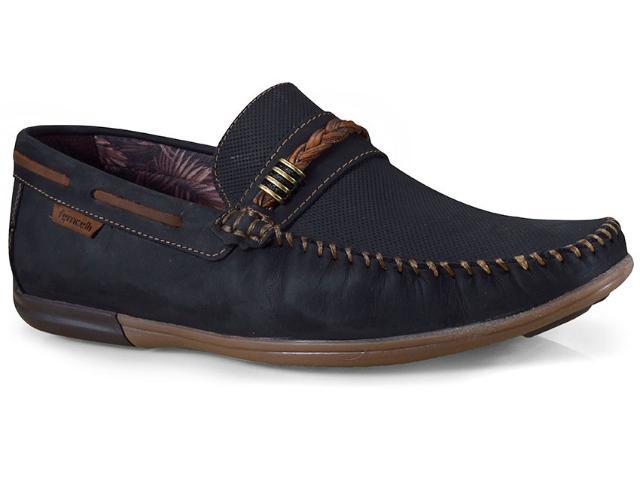 Sapato Masculino Ferricelli Jim52241 Preto/camel