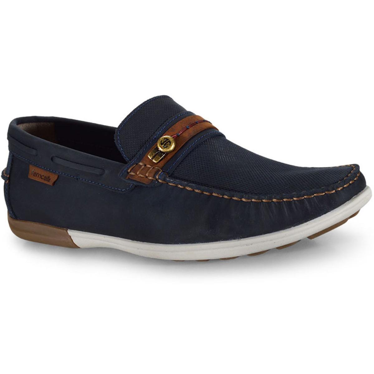 Sapato Masculino Ferricelli Jim52255 Azul/camel