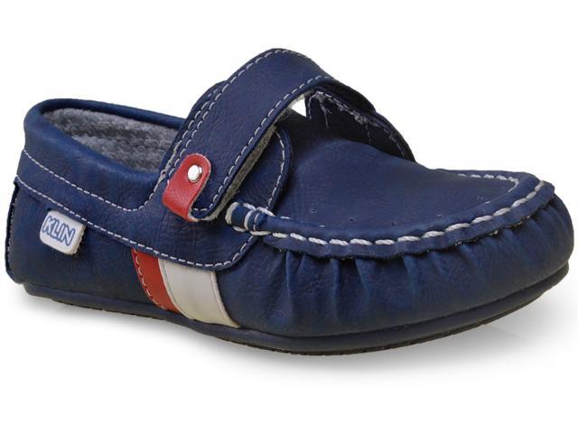 Sapato Masc Infantil Klin 197.018 Marinho/vermelho