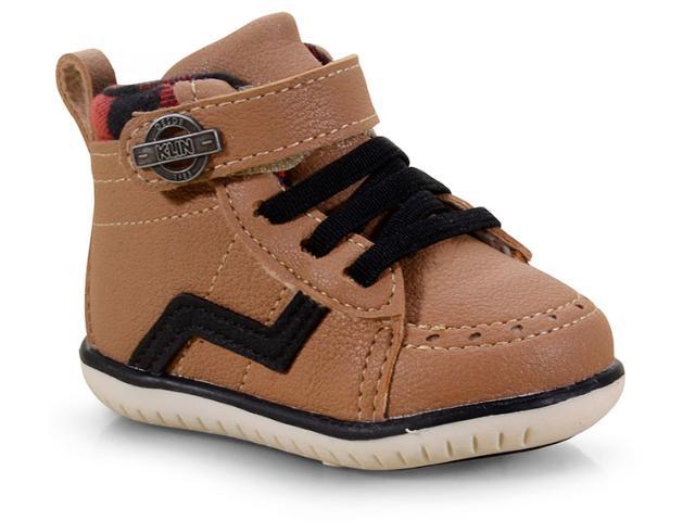 Sapato Masc Infantil Klin 166.103 Taupe/preto