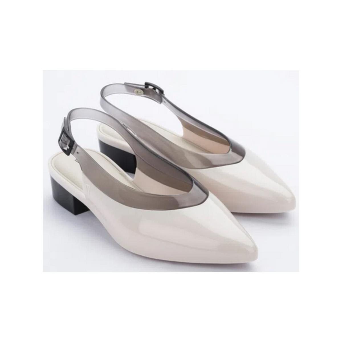 Sapato Feminino Melissa 32906 53408  Cleo Heel ad Bege/fume
