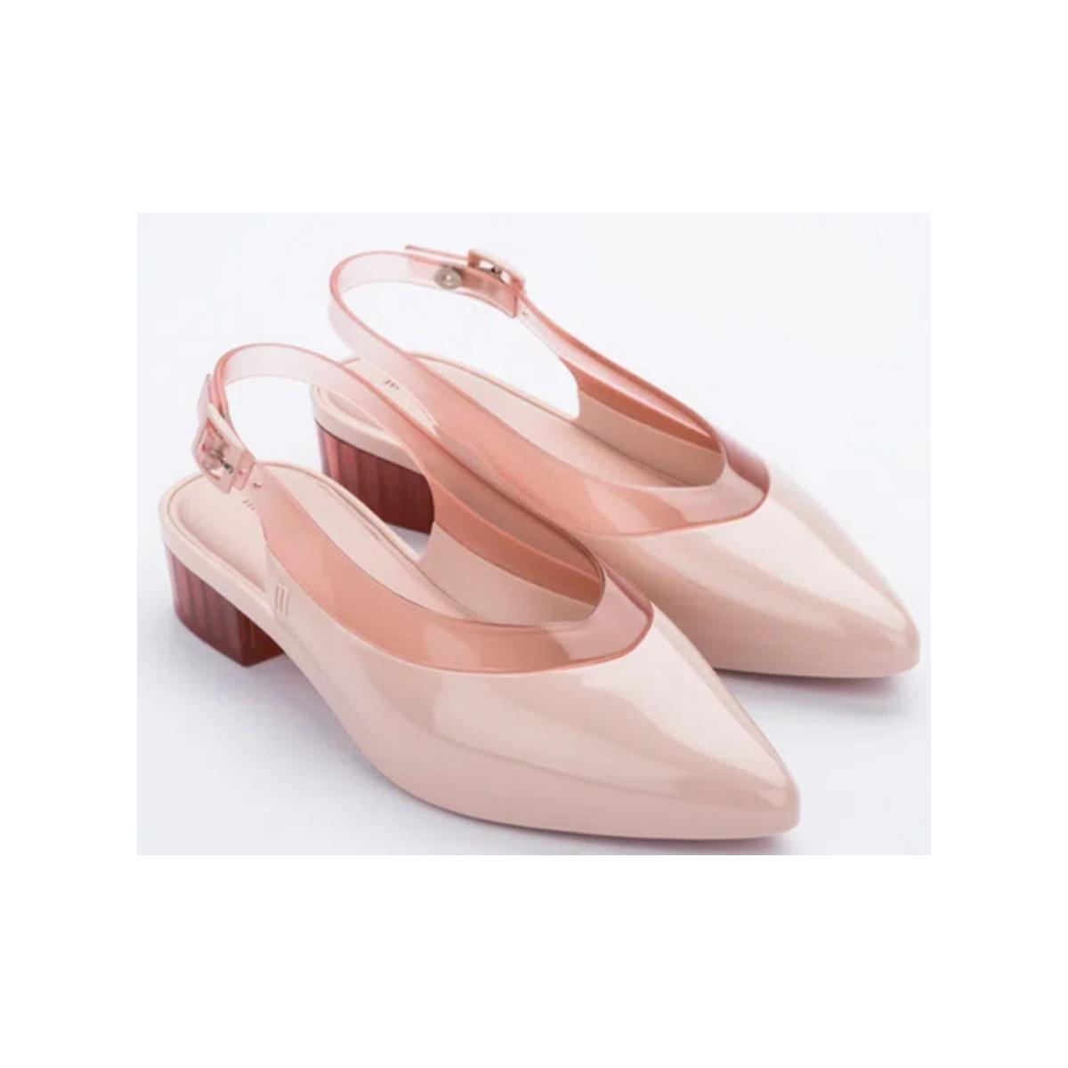 Sapato Feminino Melissa 32906 53709 Cleo Heel ad Rosa/rosa Transparente