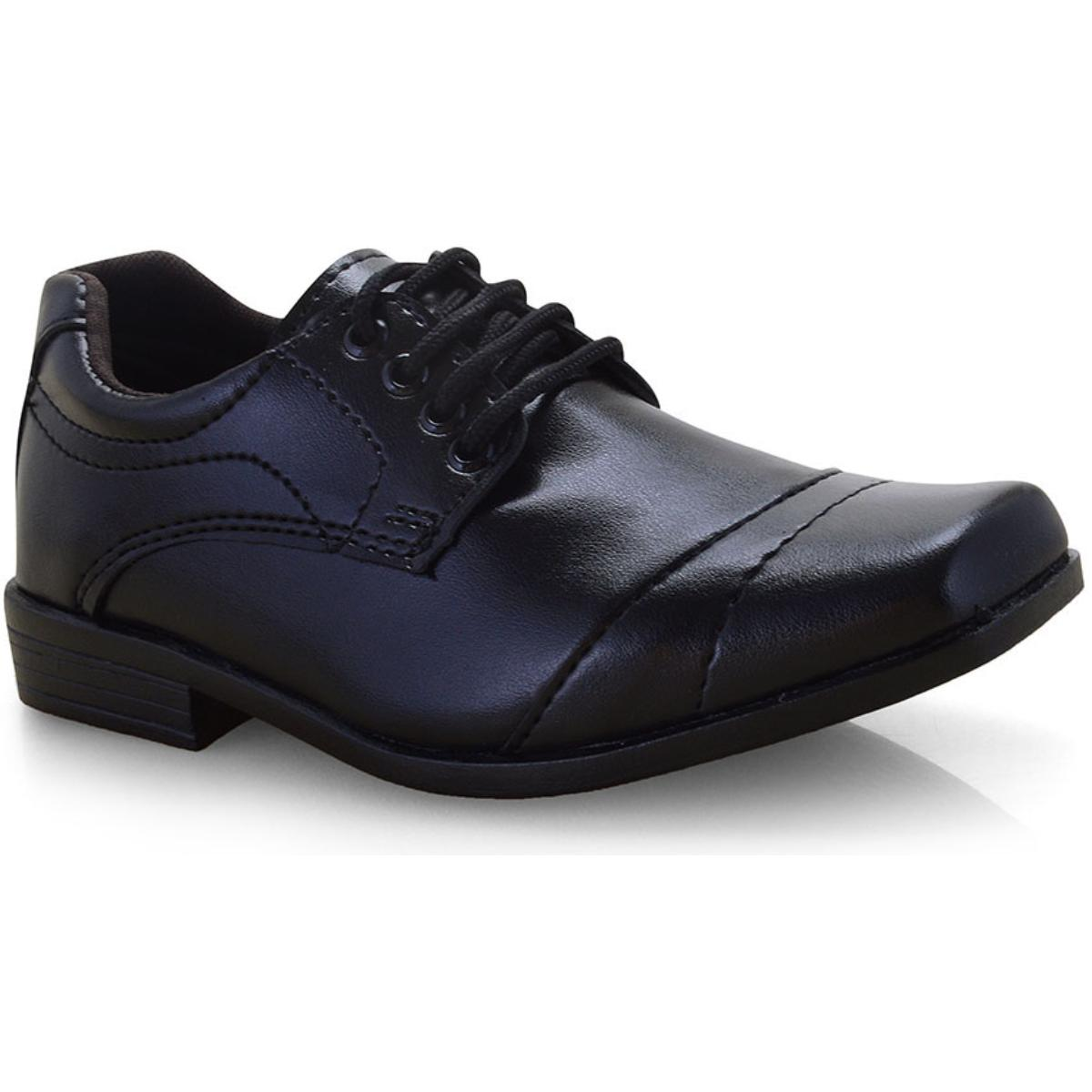 Sapato Masc Infantil Ped Shoes 204 Inf Preto