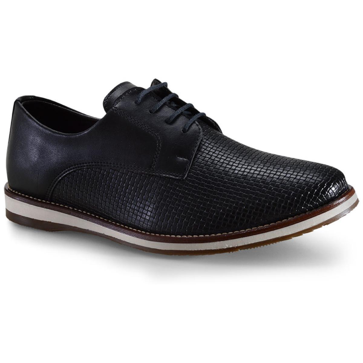 Sapato Masculino Ped Shoes Pa-503k-0345 Preto Kit Cinto+meia